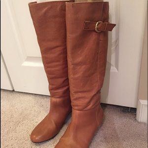 Nine West cognac colour leather boots